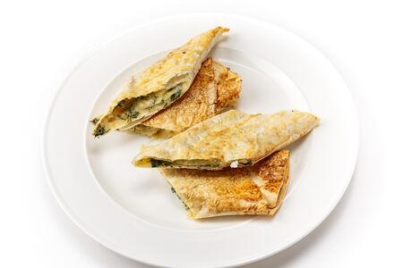 Запеченный лаваш с сыром и зеленью