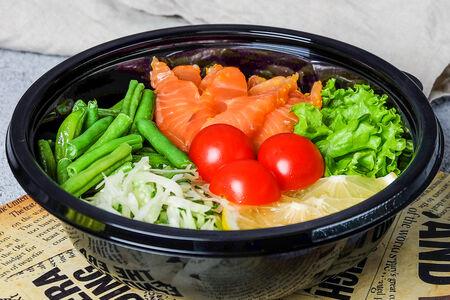 Боул с рисом и маринованным лососем