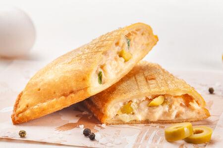 Пирог Семга в рисе