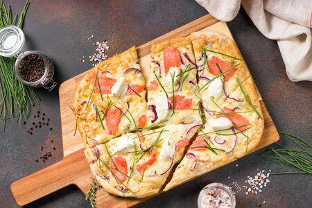 Пицца Нордика с лососем