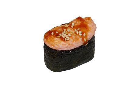 Запеченные суши с кальмаром