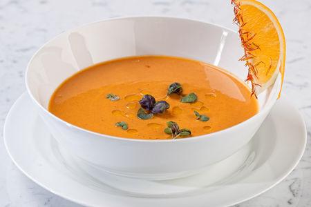 Крем-суп из чечевицы с травами