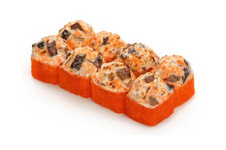 Ролл Запеченный сырный с грибами шиитаке