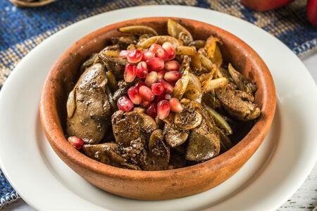 Куриная печень по-грузински