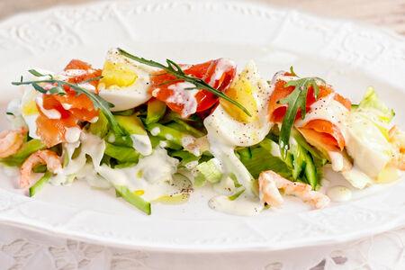 Салат Сицилиана Фреско с лососем