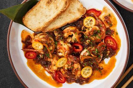 Лангустины в тамариндовом соусе