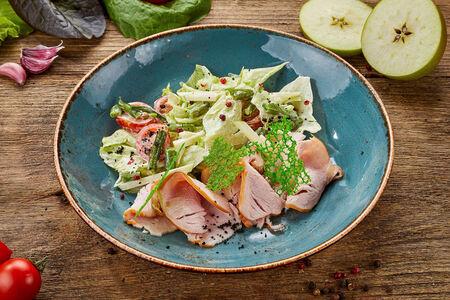 Салат из копченой индейки