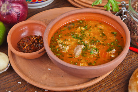 Суп Харчо с говяжьей грудинкой