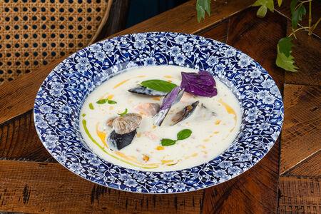 Суп Чаудер с моллюсками