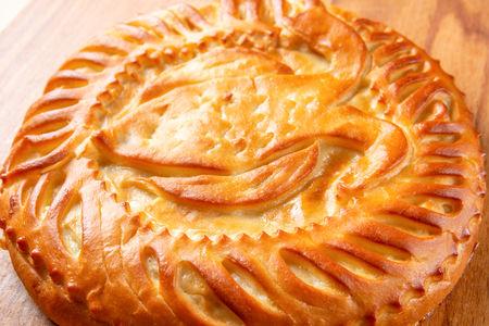 Пирог с горбушей и рисом