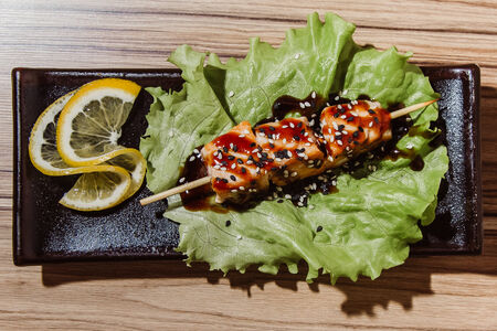 Шашлычок с лососем