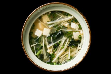 Мисо суп с грибами эноке