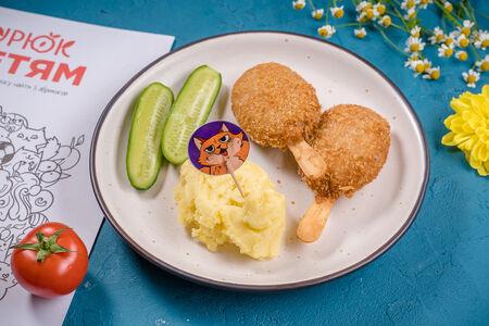 Эскимо куриное с картофелем фри