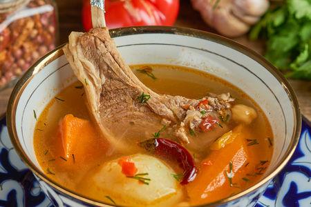 Суп Шурпа с корейкой ягненка