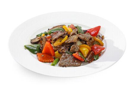 Нежная говядина с овощами Нуа Пад Прик Тай Дам
