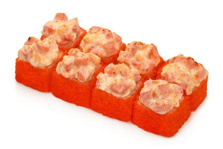 Ролл Запеченный сырный с копченым лососем