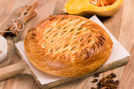 Пирог Тыква с орешками