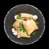 Фото к позиции меню Блины с курицей и грибами
