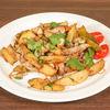 Фото к позиции меню Жареный картофель со свининой