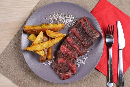 Изи стейк с картофелем