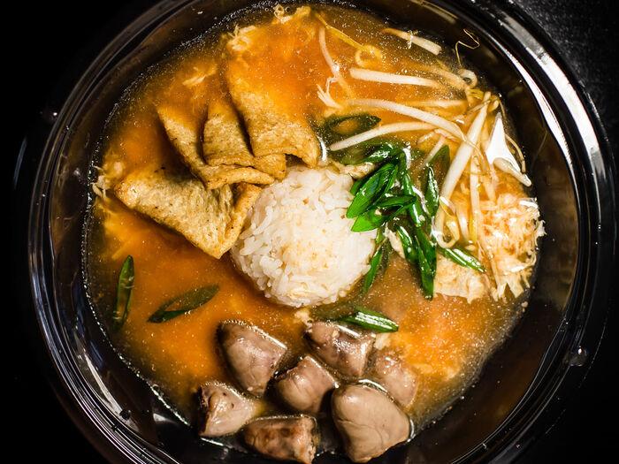 Суп Кимчи с рисом жасмин