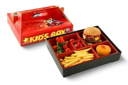 Kids Box с бургером и овощами