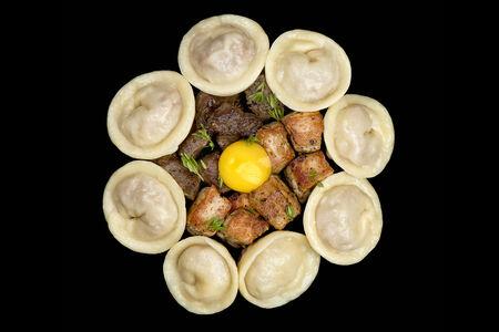 Пельмени ручной лепки МитПели со свининой и говядиной