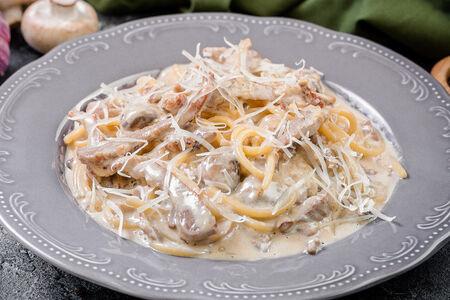 Паста с телятиной и белыми грибами