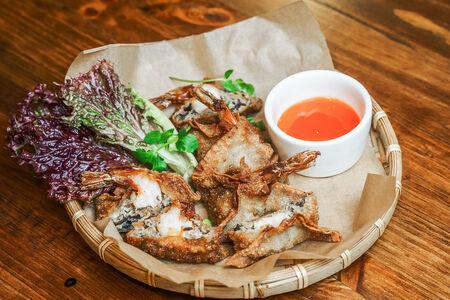 Вонтоны с морепродуктами
