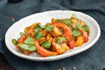 Хрустящие баклажаны с узбекскими томатами