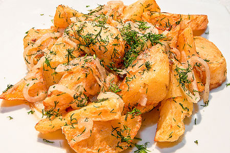 Картофель жареный с луком