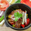 Фото к позиции меню Теплый салат с говядиной