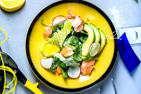 Копчёный лосось с авокадо