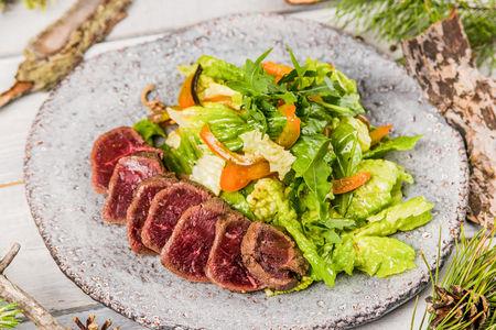 Салат с ростфибм оленины