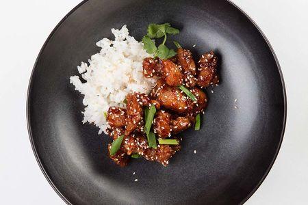 Курица Коулун с паровым рисом