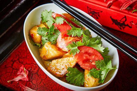 Салат из баклажан с помидорами