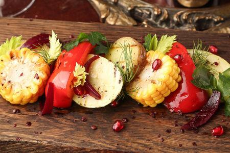 Подпеченные сезонные овощи