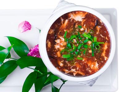 Суп Кисло-острый с курицей и грибами