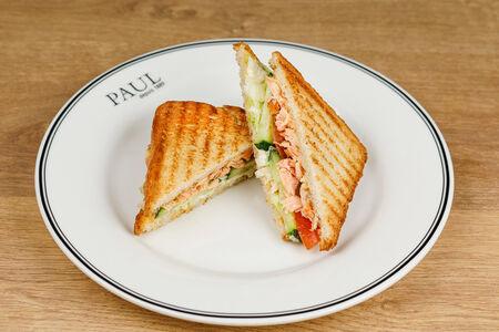 Клаб сэндвич с запечённым лососем
