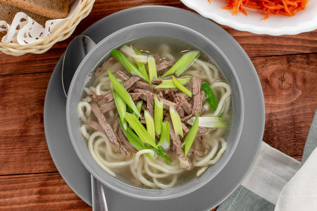 Суп-лапша по-бурятски с говядиной