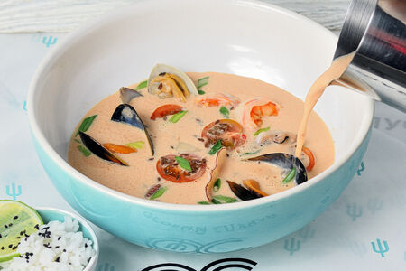 Сливочный Кимчи с морепродуктами