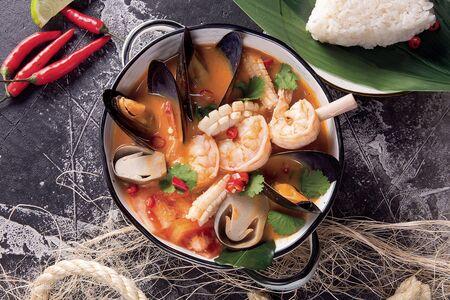 Суп Том ям с морепродуктами