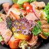 Фото к позиции меню Теплый гриль-салат с говядиной и овощами