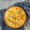 Фото к позиции меню Жареный сыр сулугуни с томатами
