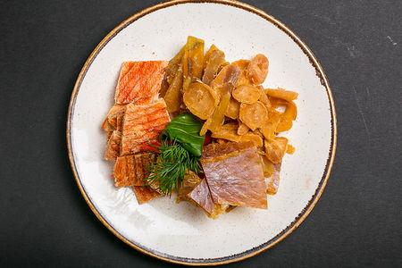 Пивная тарелка из морепродуктов