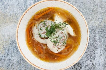 Суп из белых грибов с нудлями