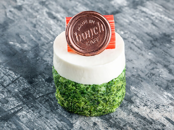 Десерт Малина-шпинат