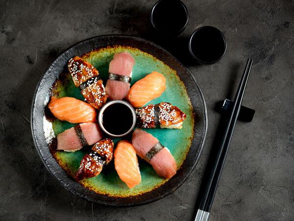 Street Market. Sushi