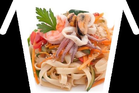 Морепродукты Вок в кисло-сладком соусе