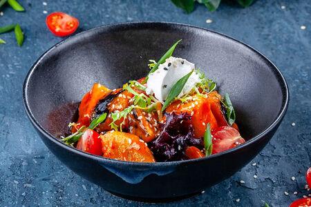 Салат с баклажанами и сливочным сыром